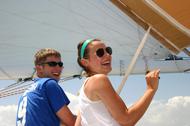 couple enjoying sailing